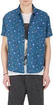 The Elder Statesman Men's Planets- & Stars-Print Cotton Shirt