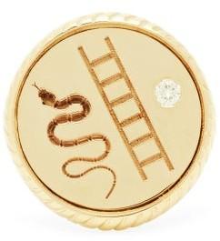 Retrouvaí Vitality Diamond & 14kt Gold Signet Ring - Yellow Gold
