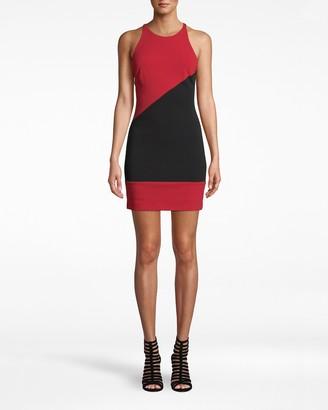 Nicole Miller Heavy Jersey X-back Mini Dress