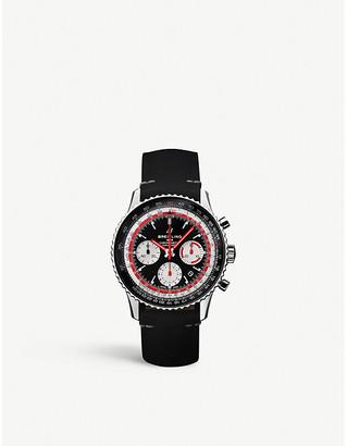 Breitling AB012/11B1/B1X2 Navitimer 1 B01 Swissair chronograph stainless steel watch