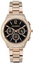 Karl Lagerfeld OPTIK Chronograph watch roségoldcoloured