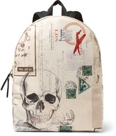 Alexander McQueen Letters From India Printed Canvas Backpack
