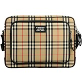 Burberry Messenger Bag In Cotton With Vintage Check Pattern