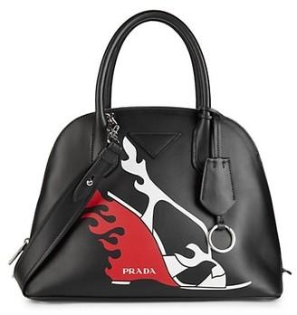 Prada Graphic Leather Satchel