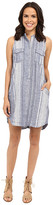 Blank NYC Striped Sleeveless Linen Dress in Out Of Spite