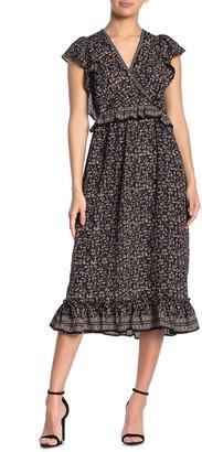 Max Studio Ruffled Surplice Dress