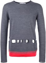 Comme des Garcons cut-off detailing sweater - men - Acrylic/Wool - S