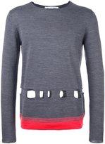 Comme des Garcons cut-off detailing sweater