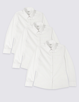 Marks and Spencer 3 Pack Girls' Easy to Iron Blouses