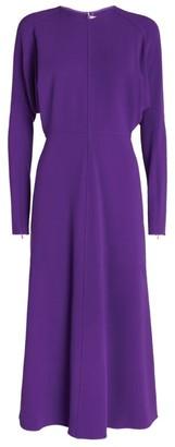 Victoria Beckham Dolman-Sleeved Midi Dress