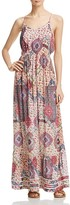 Aqua Floral Medallion Print Maxi Dress - 100% Exclusive