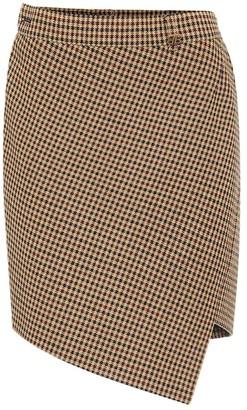 Balenciaga Houndstooth wool-blend miniskirt