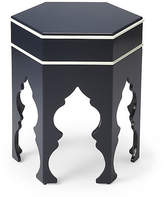 One Kings Lane Jasper Moroccan Side Table - Navy/White