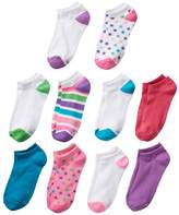 Hanes Girls 4-16 10-pk. No-Show Socks