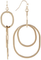 Natasha Accessories Double Drop Linked Hoop Earrings