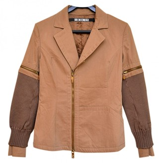 Dirk Bikkembergs Brown Cotton Jacket for Women
