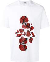 MSGM smashed skateboard T-shirt - men - Cotton - S