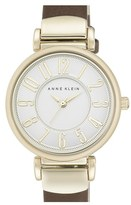 Anne Klein Women's Leather Strap Watch, 30Mm