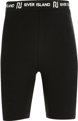 River Island Girls Black RI cycling shorts