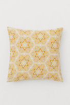 H&M Patterned Cotton Cushion Cover - Yellow