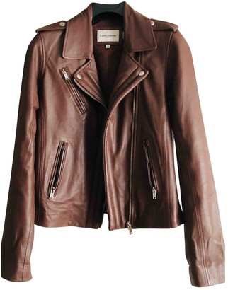 La Petite Francaise Brown Leather Jacket for Women