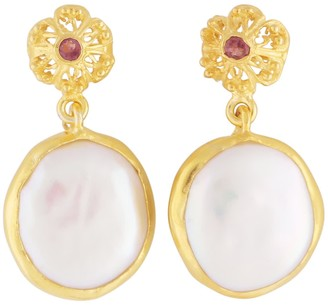 Carousel Jewels Delicate Flower & Mother Of Pearl Drops