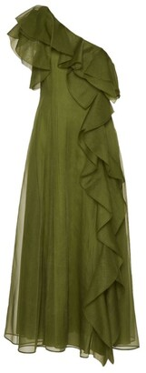 Valentino Ruffled One-Shoulder Dress