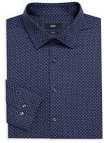 HUGO BOSS Slim-Fit Paisley-Print Shirt