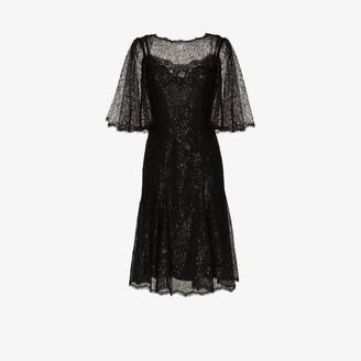 Dolce & Gabbana Low back lace flared dress