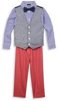 Nautica Baby Boys Four-Piece Denim Look Vest Set