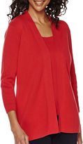 Sag Harbor The Mariner 3/4-Sleeve Cardigan