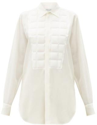 Bottega Veneta Quilted Silk Crepe-de-chine Shirt - White