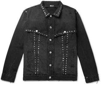 Billy Studded Distressed Denim Jacket