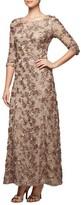 Alex Evenings Women's Rosette Detail A-Line Gown
