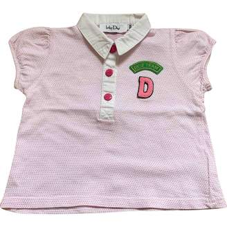Christian Dior Pink Cotton Tops