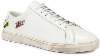 Saint Laurent Andy Low Tops in Optical White | FWRD