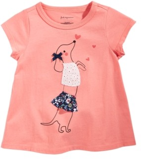 First Impressions Baby Girls Chasing Dog Cotton T-Shirt, Created for Macy's