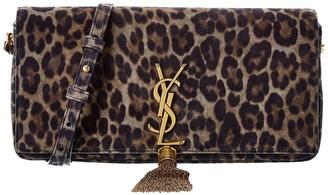 Saint Laurent Kate Suede Leather Shoulder Bag