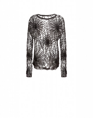 Moschino Spider Webs Pullover Man Black Size 48 It - (38 Us)