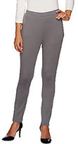 Dennis Basso Ponte Knit Pull-on Ankle Pants