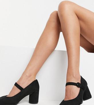 Simply Be Jennifer wide fit mary jane heel in black