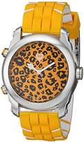"Brillier Unisex 13.04-01 ""Buzz"" Analog-Digital Reversible Display Watch with Rubber Strap"