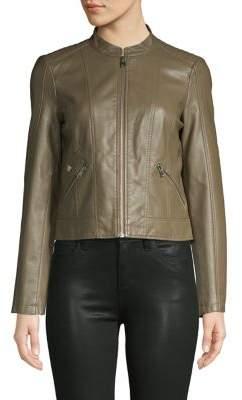 Vero Moda Faux Leather Zip-Front Jacket