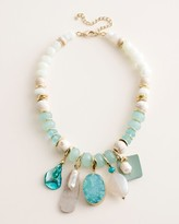 Chico's Chicos Aqua Bib Necklace