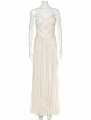 J. Mendel Silk Long Dress
