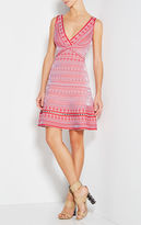 Herve Leger Stacey Plaited Lace Flute Dress