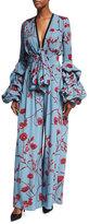 Johanna Ortiz Florence Floral-Print Georgette Bodysuit