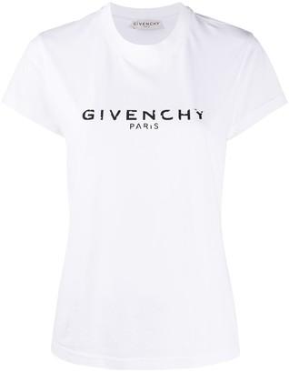 Givenchy antique-effect logo print T-shirt