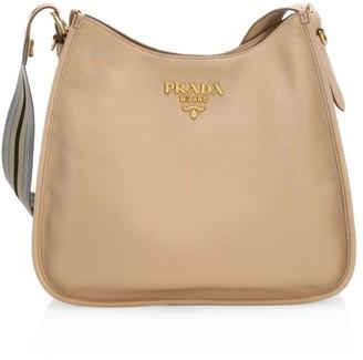 Prada Large Daino Leather Hobo Bag