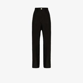 Ann Demeulemeester High Waist Slim Cargo Trousers
